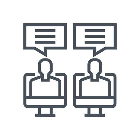 Web conferencing icon suitable for info graphics, websites and print media and  interfaces. Line vector icon.