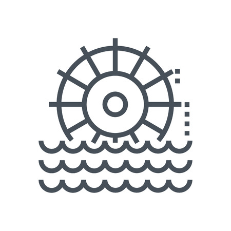fuel and power generation: Hydro power icon suitable for info graphics, websites and print media and  interfaces. Line vector icon.