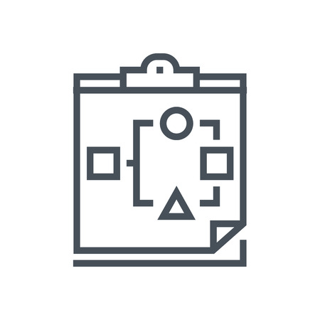 data sheet: Organization, data sheet icon suitable for info graphics, websites and print media. Vector icon. Illustration