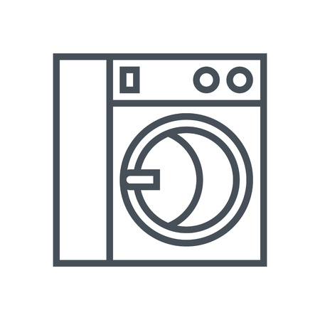 Washing machine icon suitable for info graphics, websites and print media and  interfaces. Line vector icon.