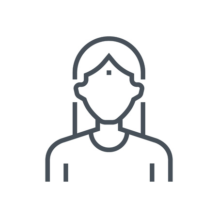 Employee, office person avatar icon suitable for info graphics, websites and print media and  interfaces. Line vector icon. Illustration