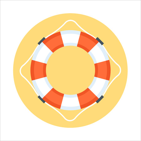 security service: Security Service, Life Buoy flat style, colorful, vector icon for info graphics, websites, mobile and print media.