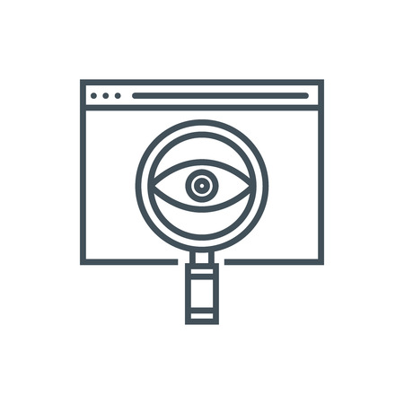 Search engine optimisation icon suitable for info graphics, websites and print media and  interfaces. Line vector icon. Иллюстрация