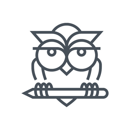 Education, owl icon suitable for info graphics, websites and print media and  interfaces. Line vector icon.