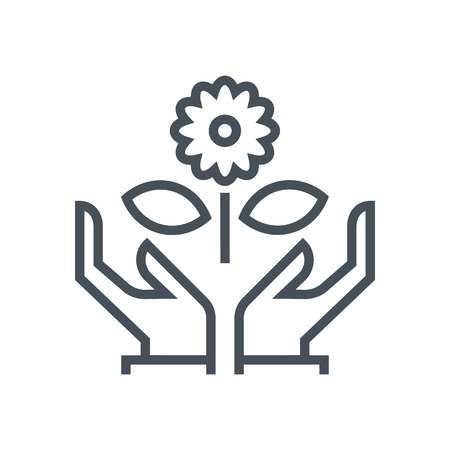 Protect the nature icon suitable for info graphics, websites and print media and  interfaces. Line vector icon.