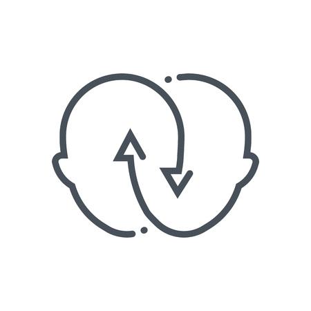 Icône appropriée pour informations graphiques, sites Web et des supports d'impression et interfaces relation. Main de style dessinée, ligne vecteur icône. Banque d'images - 55955938