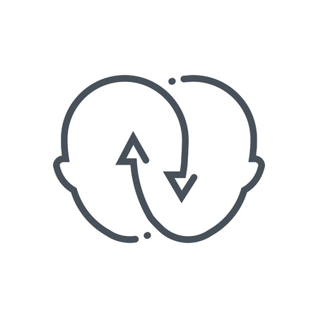 icona relazione adatto per informazioni grafiche, siti web e supporti di stampa e interfacce. Stile disegnato a mano, linea vettore icona.