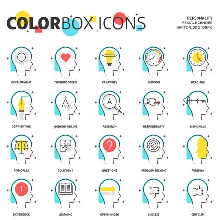 Feld Farbe Icons, Wirtschaft und Persönlichkeit Konzept Illustrationen, Symbole, Hintergründe und Grafiken. Die Abbildung ist bunt, flach, Vektor, Pixel perfekt, geeignet für Web und Print. Es ist linear schürt und Füllungen.