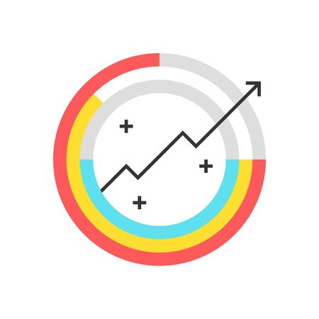 Color box icon, global statistics concept illustration, icon, background and graphics. The illustration is colorful, flat, vector, pixel perfect, suitable for web and print. It is linear stokes and fills.
