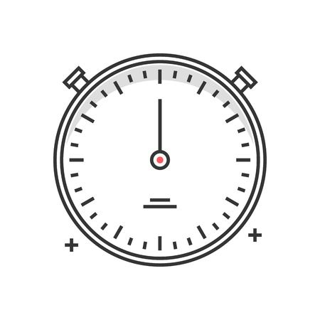 Color box icon, timer concept illustration, icon, background and graphics. The illustration is colorful, flat, vector, pixel perfect for web and print. Linear stokes and fills. Illustration