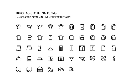 hangers: Clothes mini line, illustrations, icons, backgrounds and graphics. The icons pack is black and white, flat, vector, pixel perfect, minimal, suitable for web and print.