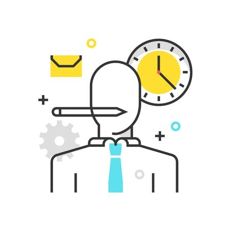 Color box icon, personal worker illustration, icon, background and graphics. The illustration is colorful, flat, vector, pixel perfect, suitable for web and print. It is linear stokes and fills.