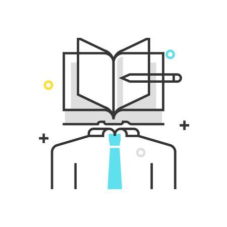 カラー ボックスのアイコン、知的財産のイラスト、アイコン、背景とグラフィックス。イラストは、カラフルなフラット、ベクトル、ピクセル完璧