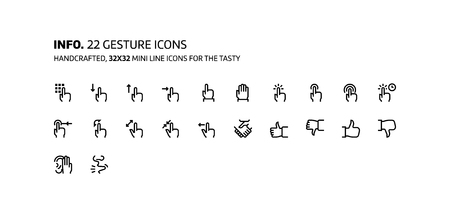trackpad: Gestures mini line, illustrations, icons, backgrounds and graphics. The icons pack is black and white, flat, vector, pixel perfect, minimal, suitable for web and print. Illustration