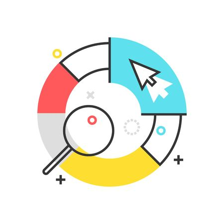 basic scheme: Color box statistics icon, background and graphics. The illustration is colorful, flat, vector, pixel perfect, suitable for web and print. It is linear stokes and fills. Illustration