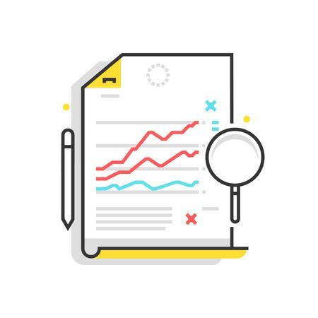 적합: Color box icon, statistics illustration, icon, background and graphics. The illustration is colorful, flat, vector, pixel perfect, suitable for web and print. It is linear stokes and fills.
