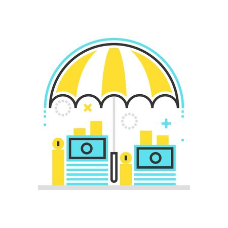 Color box icon, wealth protection illustration, icon, background and graphics.