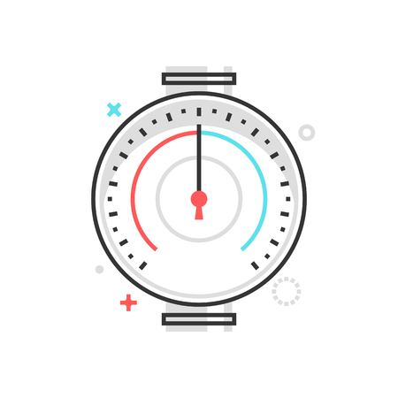needle valve: Color box icon, pressure meter illustration, icon, background and graphics. Illustration