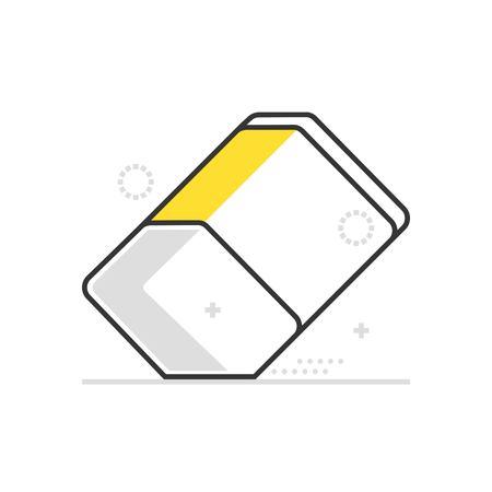 Icône de gomme de couleur, fond et graphiques. L'illustration est colorée, plate, vecteur, pixel parfait, adaptée au Web et à l'impression. C'est linéaire Stokes et remplit.