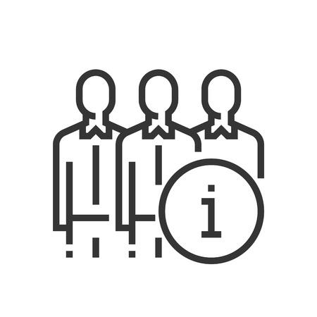 Over ons pictogram, een deel van de vierkante pictogrammen, car service icon set. De illustratie is een vector, bewerkbare lijn, tweeëndertig bij tweeëndertig matrixraster, pixel perfect bestand.