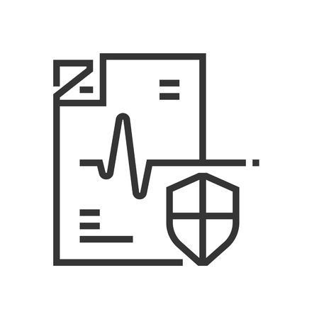 Health shield icon, part of the square icons, car service icon set. The illustration is a vector, editable stroke, thirty-two by thirty-two matrix grid, pixel perfect file.