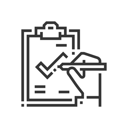 Managed service icon, part of the square icons, car service icon set. The illustration is a vector, editable stroke, thirty-two by thirty-two matrix grid, pixel perfect file.
