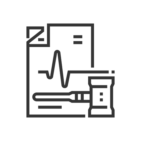 Healthcare law icon, part of the square icons, law and justice icon set. The illustration is a vector, editable stroke, thirty-two by thirty-two matrix grid, pixel perfect file. Çizim