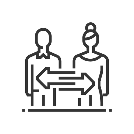Divorce law icon, part of the square icons, law and justice icon set. The illustration is a vector, editable stroke, thirty-two by thirty-two matrix grid, pixel perfect file.