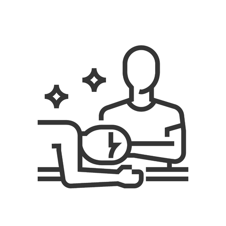 Body massage icon, part of the square icons, beauty salon icon set. The illustration is a vector, editable stroke, thirty-two by thirty-two matrix grid, pixel perfect file.