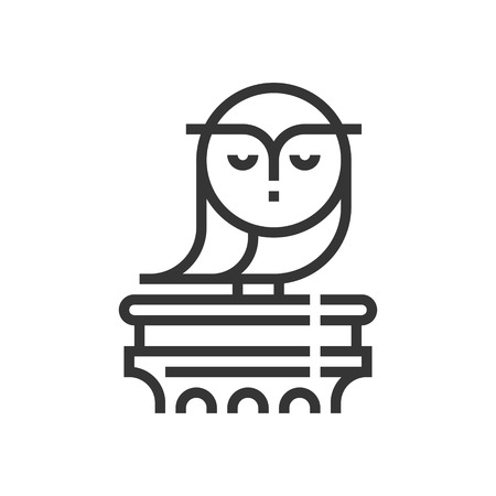 Education law icon, part of the square icons, law and justice icon set. The illustration is a vector, editable stroke, thirty-two by thirty-two matrix grid, pixel perfect file.