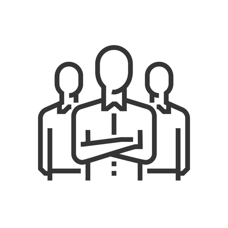 Team leader icon, part of the square icons, business elements icon set. The illustration is a vector, editable stroke, thirty-two by thirty-two matrix grid, pixel perfect file.