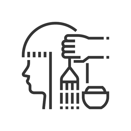 Hair dye icon, part of the square icons, hair salon icon set. The illustration is a vector, editable stroke, thirty-two by thirty-two matrix grid, pixel perfect file.