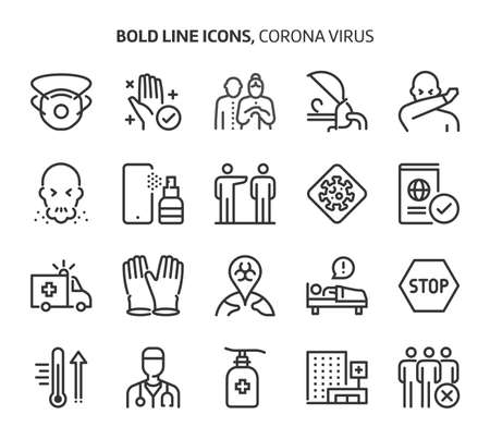 Bold line icons. The illustrations are a vector, editable stroke, 48x48 pixel perfect files. Crafted with precision and eye for quality. Illustration