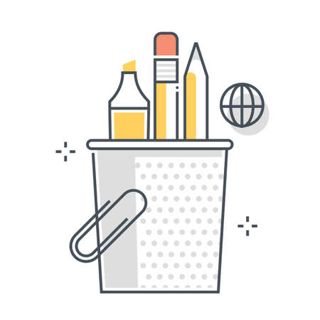 Growth related color line vector icon, illustration. The icon is about plant, start up, planning, budget, company, finance. The composition is infinitely scalable. Illustration