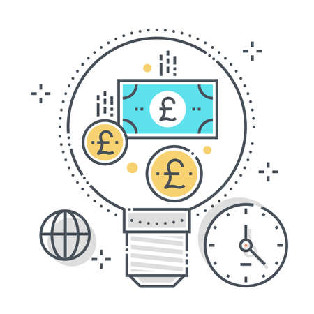 Currency exchange related color line vector icon, illustration. The icon is about coin, conversion, currency, dollar, finance, money, scale. The composition is infinitely scalable.