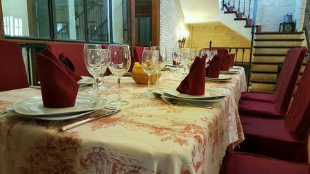 decor: Table ready to eat Stock Photo