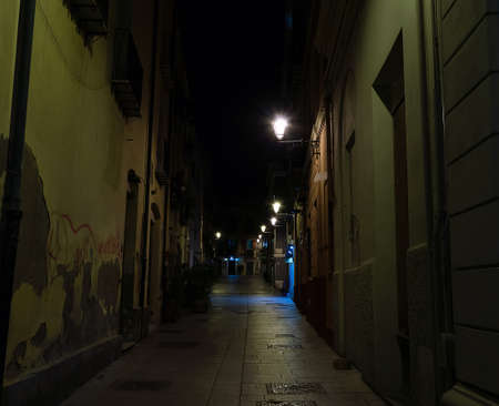 lanterns in a peaceful street at night