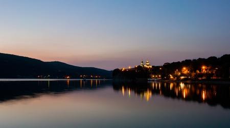 nightview: Night view of lake Abrau. Krasnodar region. Russia