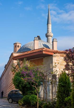 minarets: View of the minarets of the Hagia Sophia. Istanbul. Turkey