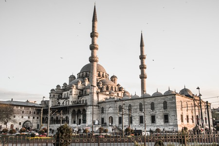 eminonu: ISTAMBUL, TURKEY - APRIL, 18: Eminonu Mosque on 11 april 2013