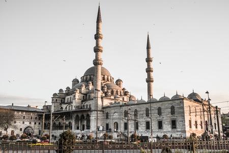 turkish ethnicity: ISTAMBUL, TURKEY - APRIL, 18: Eminonu Mosque on 11 april 2013