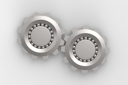 3d model of bearings connection Stock Photo - 14481989