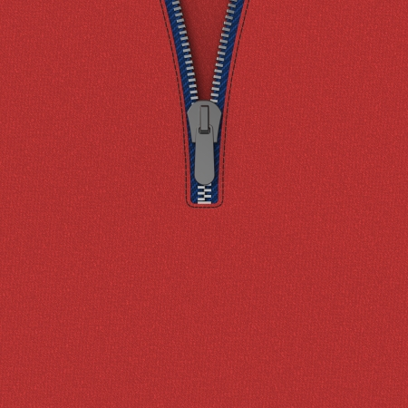 zipped: Zip on red leather