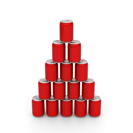 3D-Modell des roten Dosen eingerichtet, um einen Turm