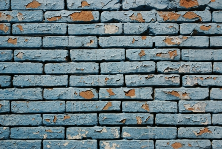 punctuate: Detail and pattern of cracked grunge bricks wall Stock Photo