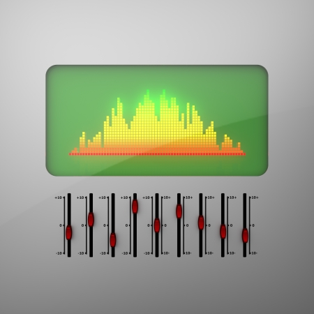 audiovisual: 3D model of electronic equalizer