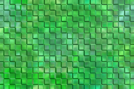 emboss: Computer graphic design abstract background of green emboss square blocks