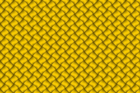 Computer graphic design of yellow textiles weave pattern