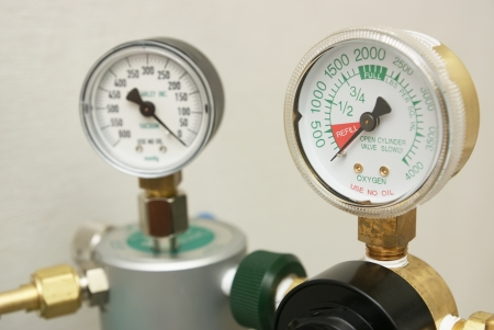 Oxygen in tank exhausted and indicated on gages to refill