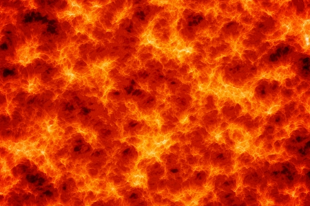 Computer generated abstract of magma lava